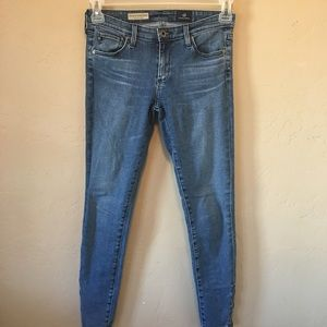 AG Adriano Goldschmied Zip Up Legging Ankle Sz 27R